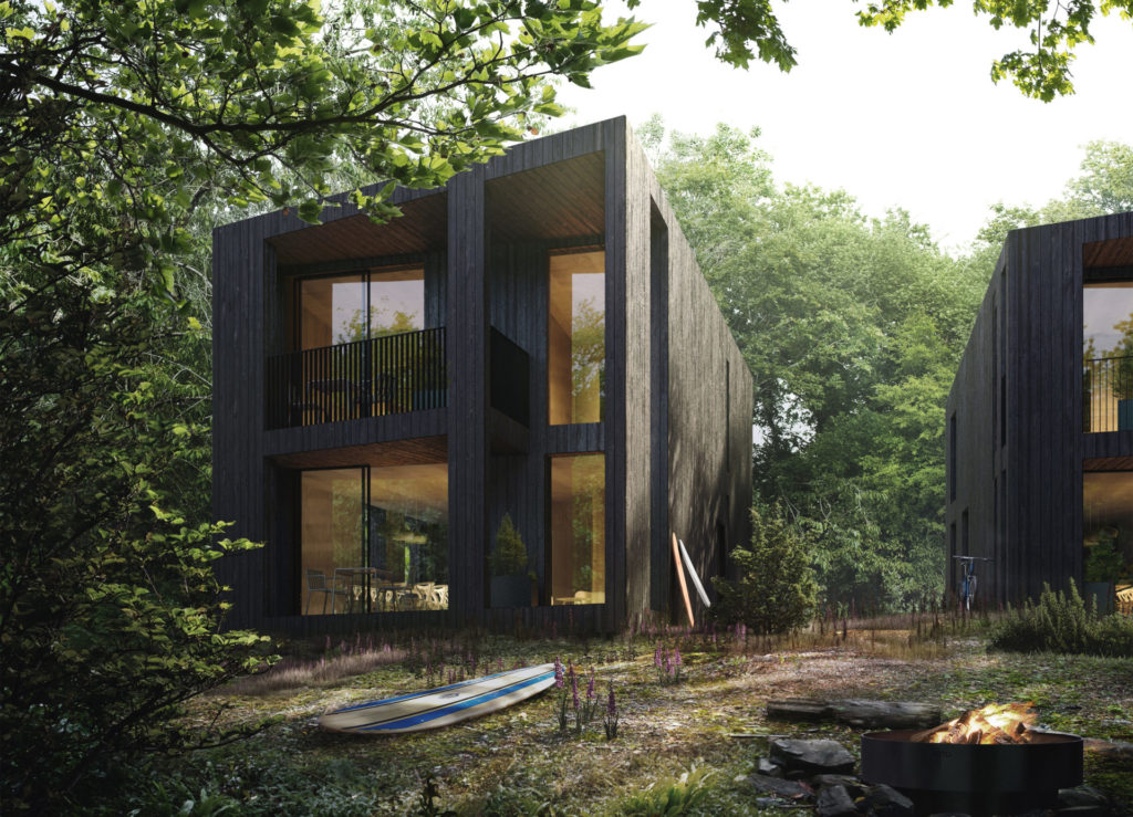 Tree House designed by contemporary architects Koto has giant glass panels to immerse the principle living space in nature